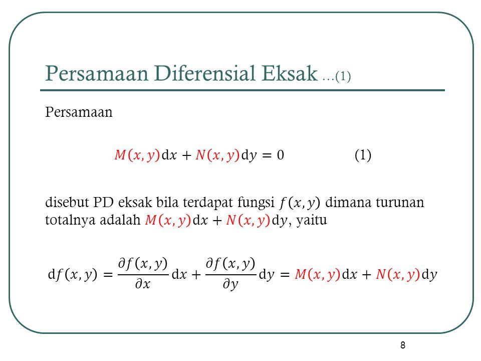 Persamaan Diferensial Eksak …(1)
