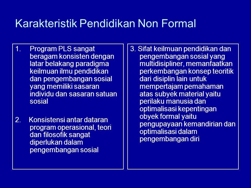 Karakteristik Pendidikan Non Formal