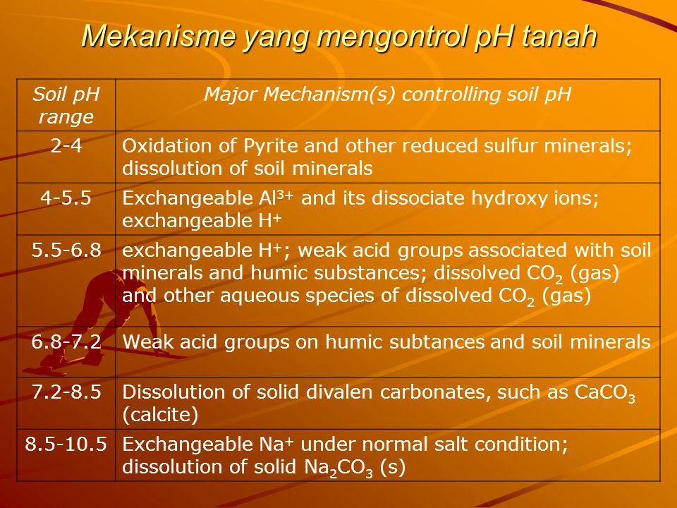 Mekanisme yang mengontrol pH tanah