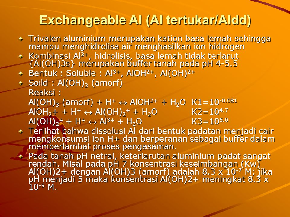 Exchangeable Al (Al tertukar/Aldd)