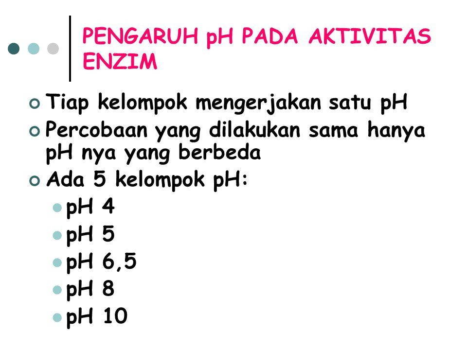 PENGARUH pH PADA AKTIVITAS ENZIM