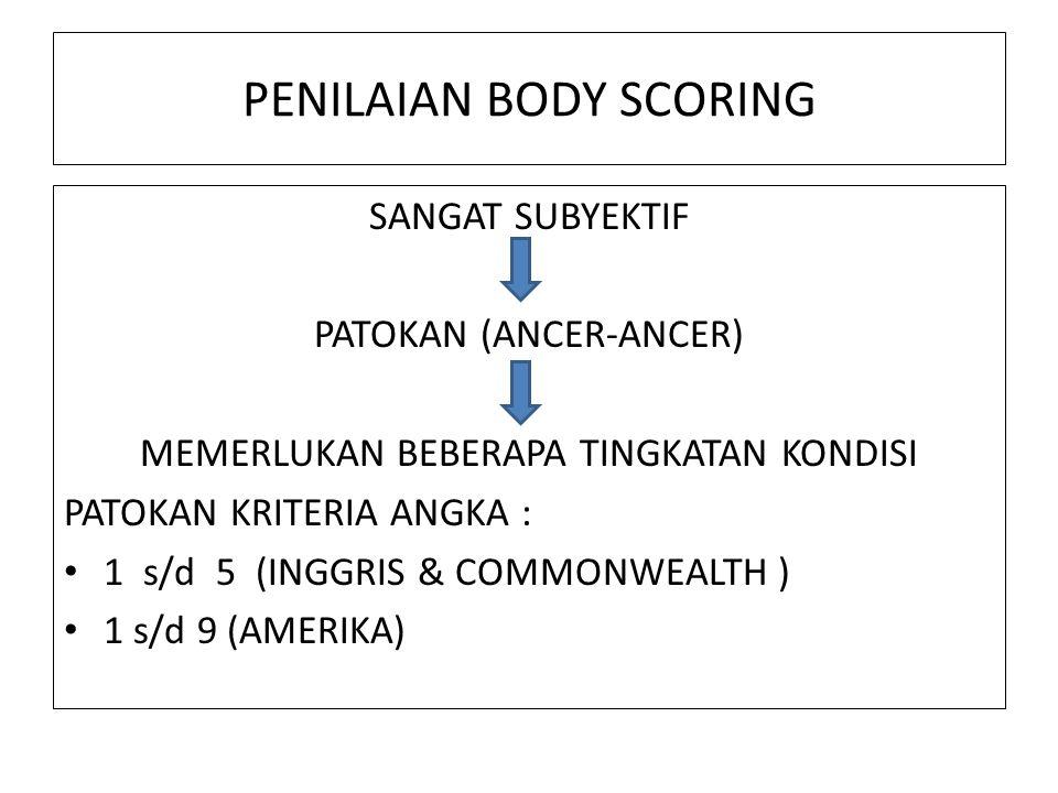 PENILAIAN BODY SCORING