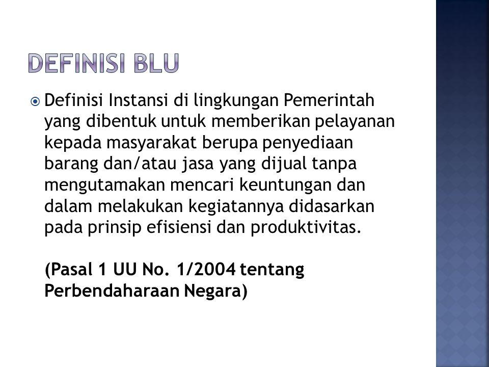 Definisi BLU