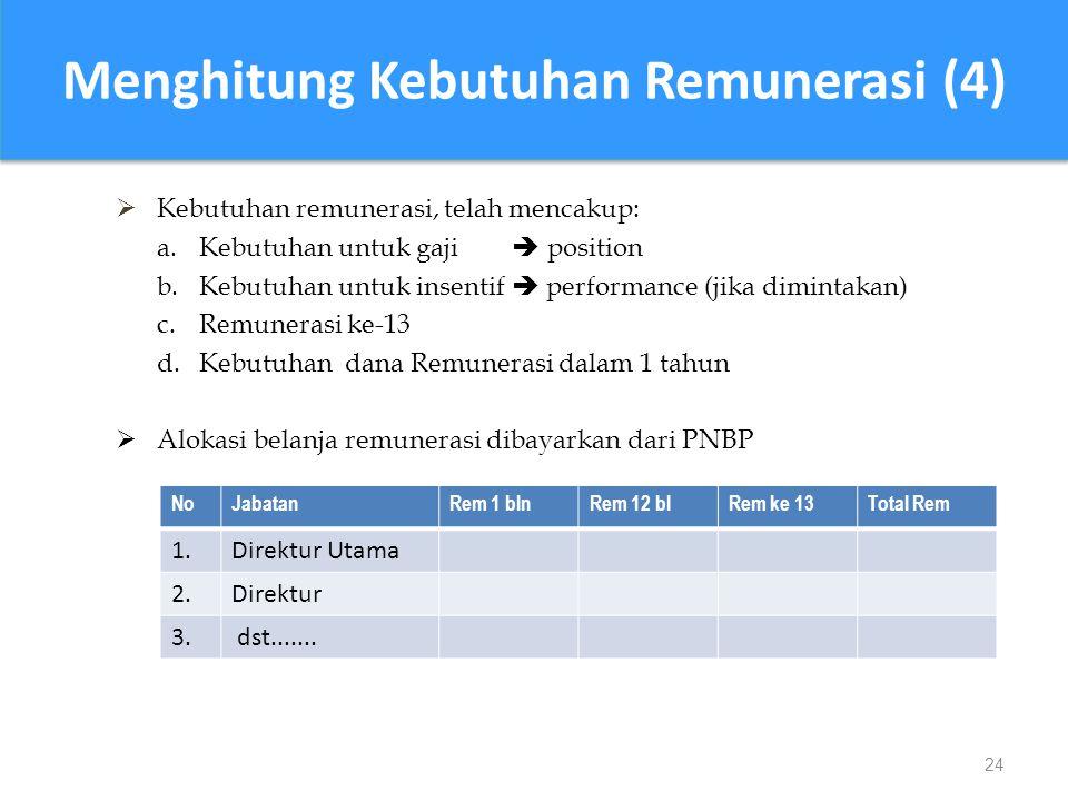 Menghitung Kebutuhan Remunerasi (4)