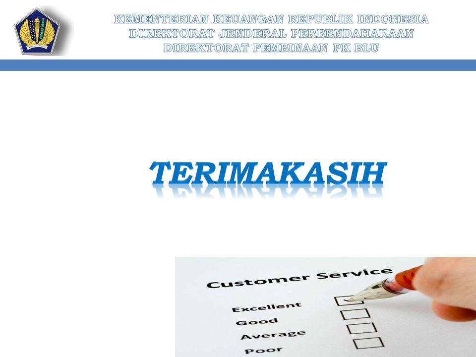 KEMENTERIAN KEUANGAN REPUBLIK INDONESIA DIREKTORAT JENDERAL PERBENDAHARAAN DIREKTORAT PEMBINAAN PK BLU