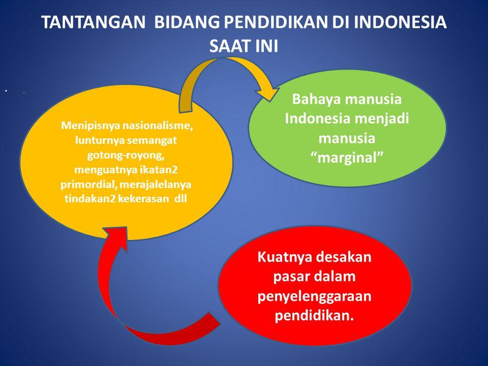 TANTANGAN BIDANG PENDIDIKAN DI INDONESIA SAAT INI