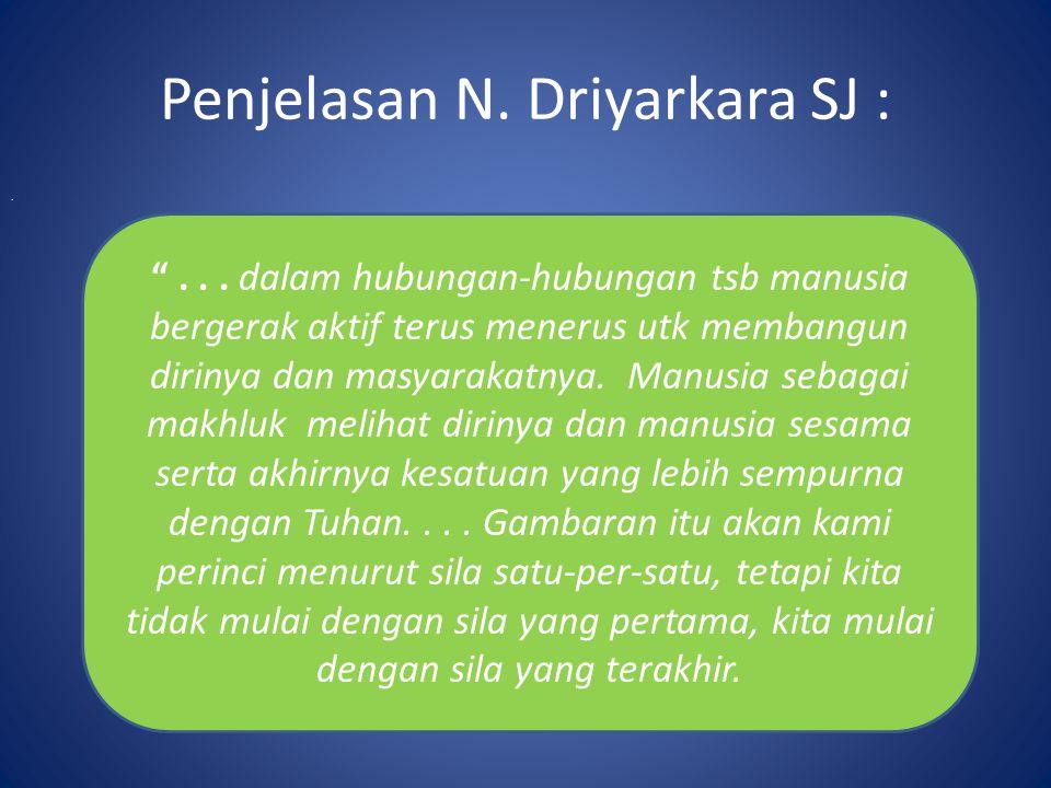 Penjelasan N. Driyarkara SJ :