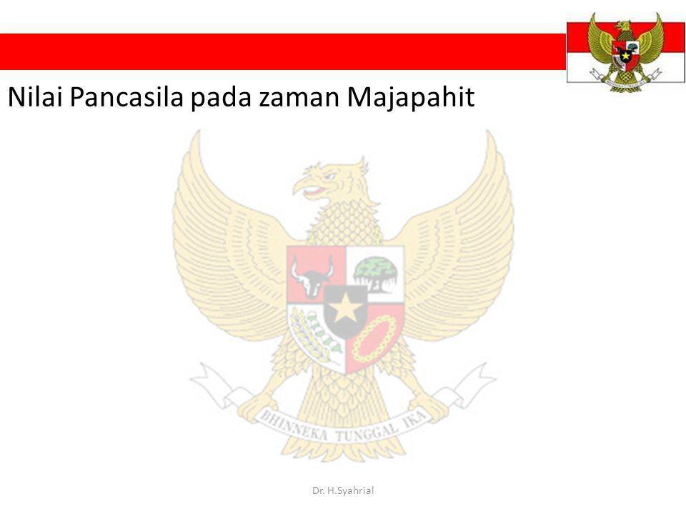 Nilai Pancasila pada zaman Majapahit