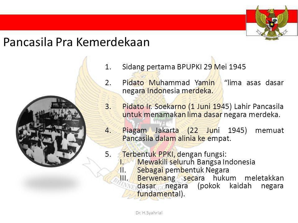 Pancasila Pra Kemerdekaan
