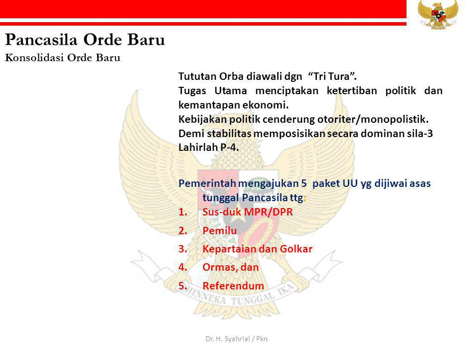Pancasila Orde Baru Konsolidasi Orde Baru