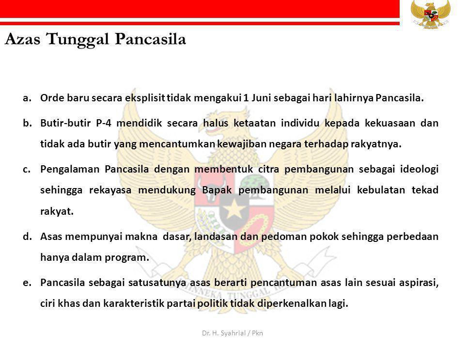 Azas Tunggal Pancasila