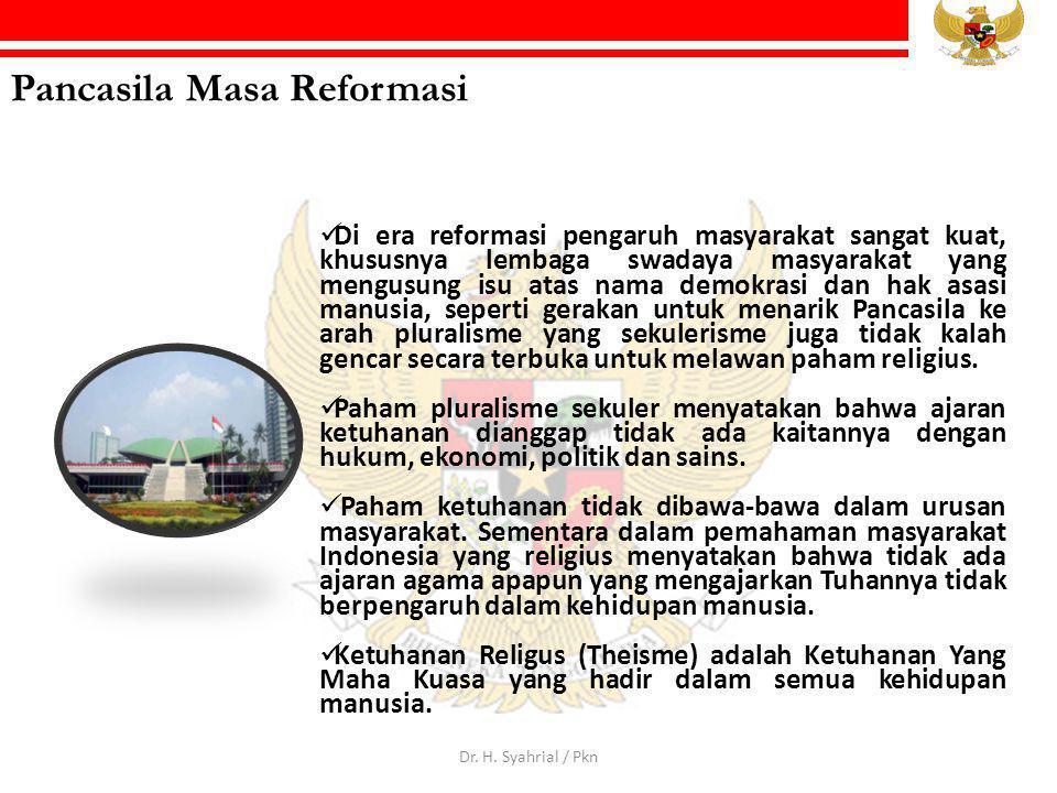 Pancasila Masa Reformasi