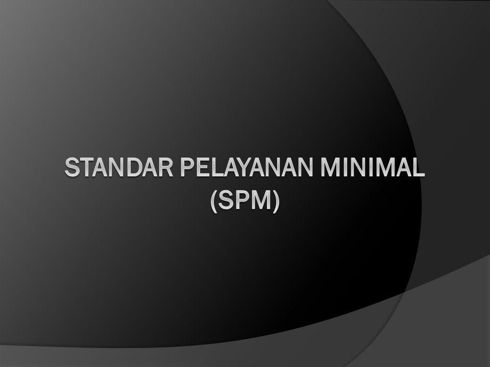 STANDAR PELAYANAN MINIMAL (SPM)