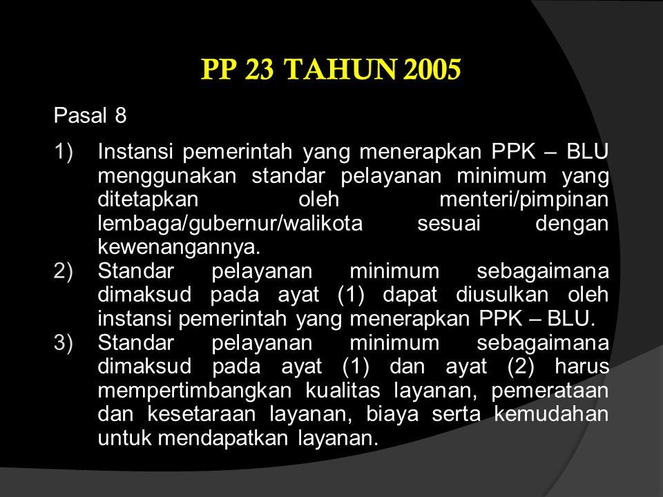 PP 23 TAHUN 2005 Pasal 8.