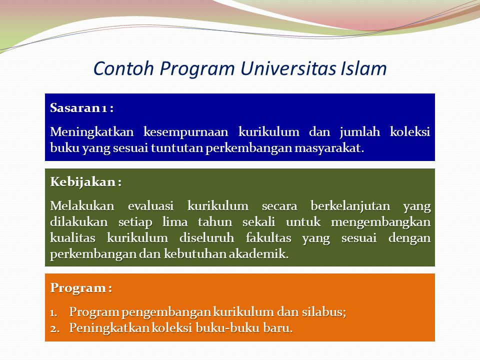 Contoh Program Universitas Islam