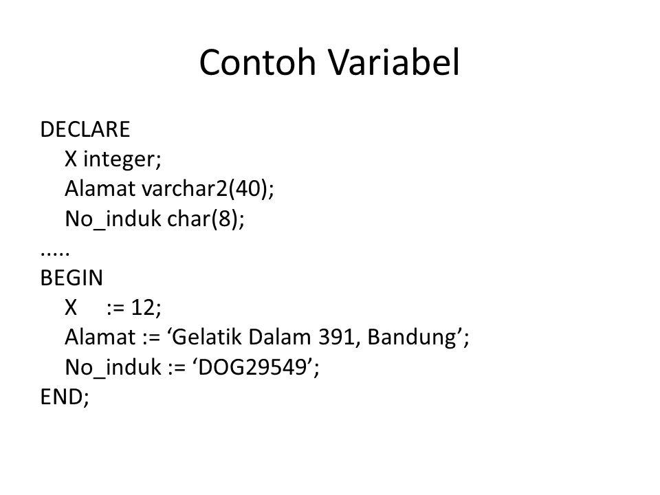 Contoh Variabel