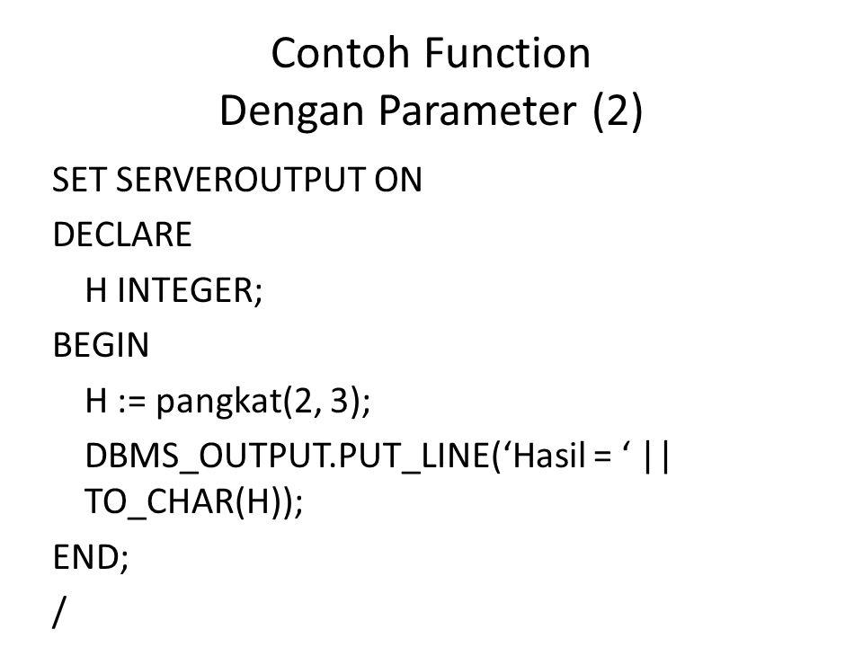 Contoh Function Dengan Parameter (2)