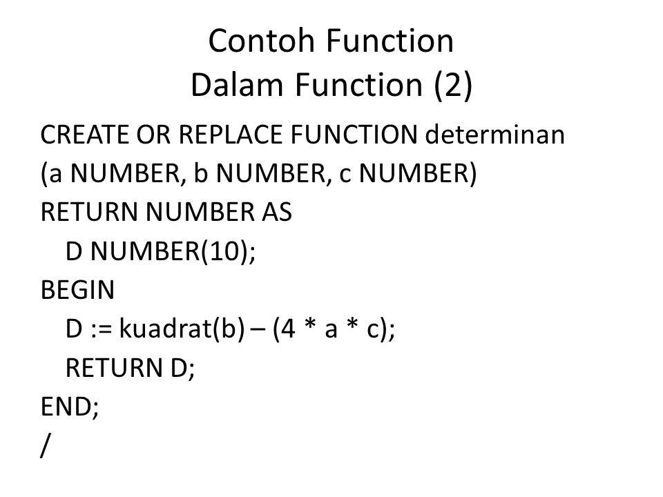 Contoh Function Dalam Function (2)