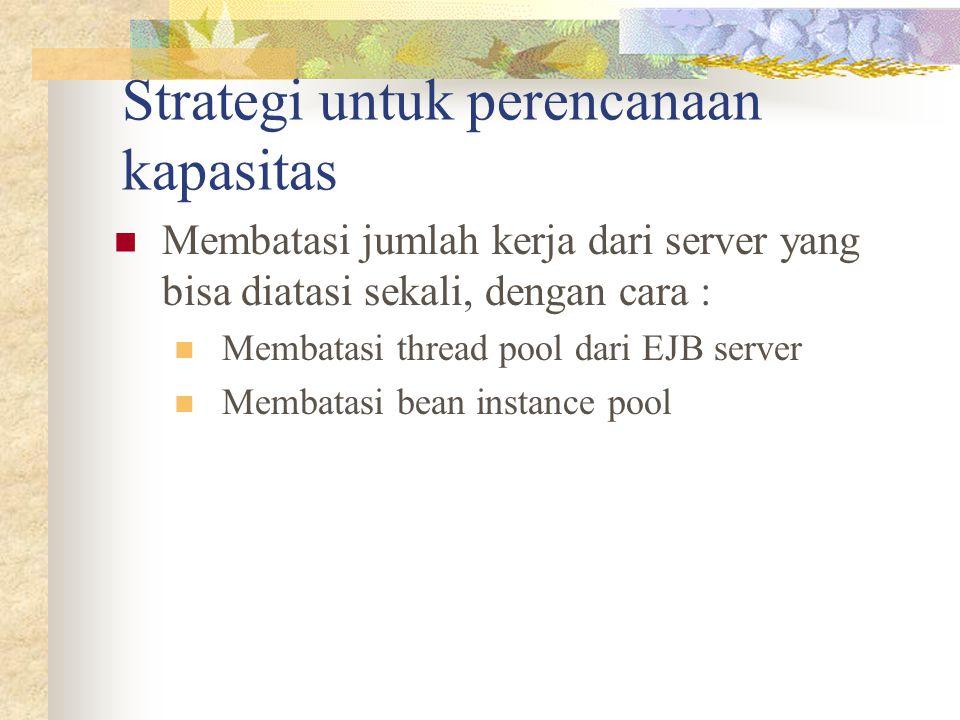 Strategi untuk perencanaan kapasitas