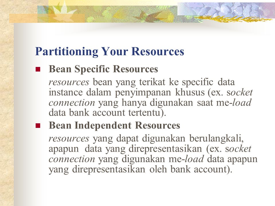 Partitioning Your Resources