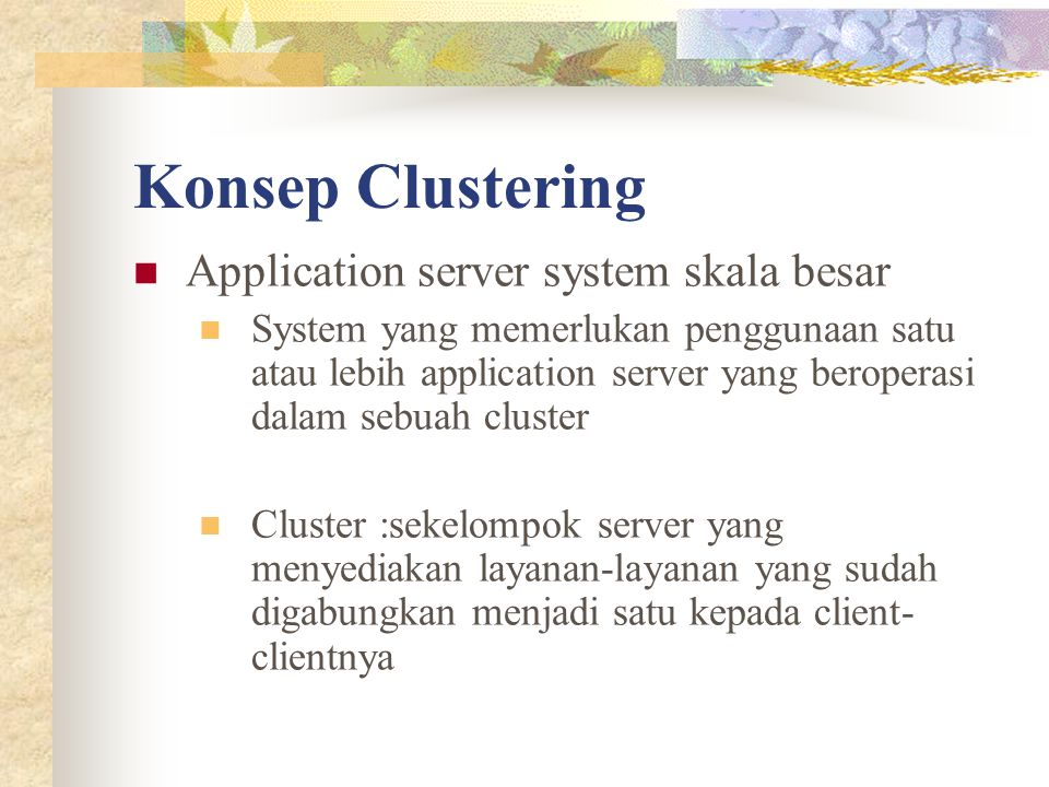 Konsep Clustering Application server system skala besar