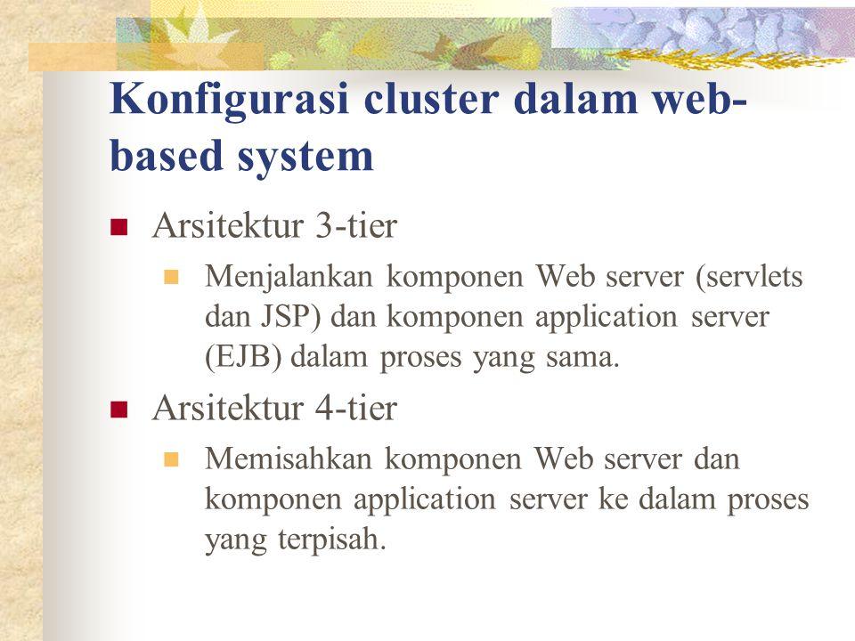 Konfigurasi cluster dalam web-based system