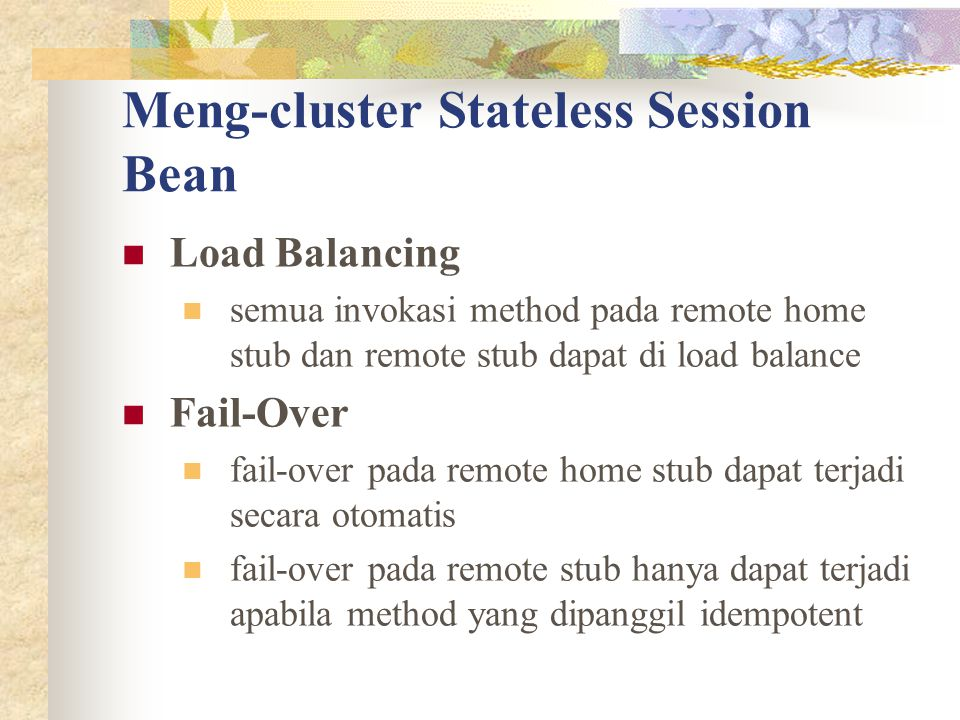 Meng-cluster Stateless Session Bean