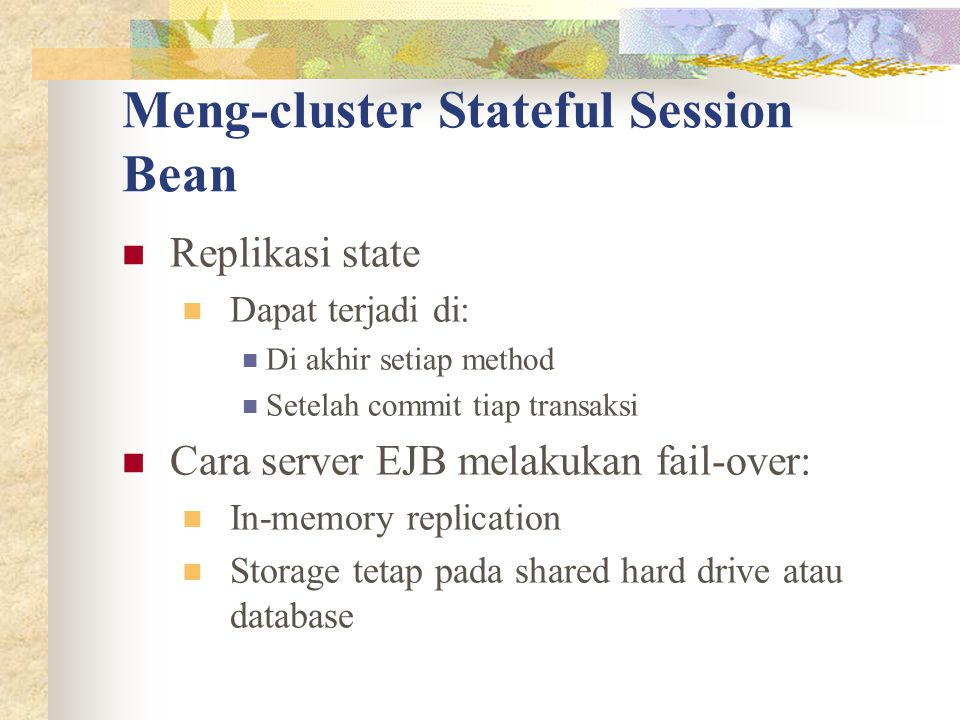 Meng-cluster Stateful Session Bean
