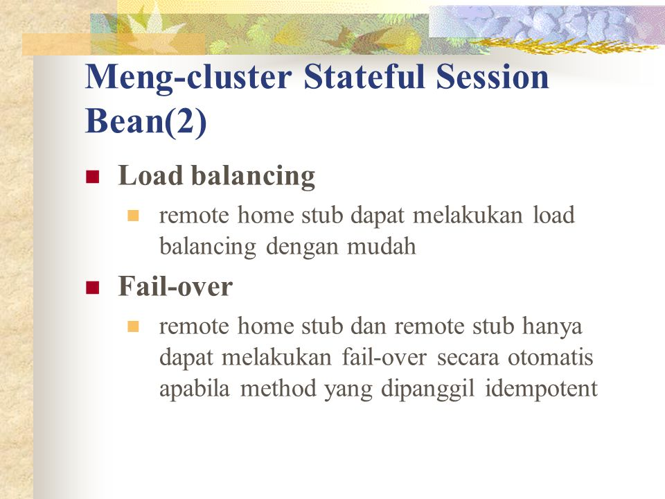 Meng-cluster Stateful Session Bean(2)