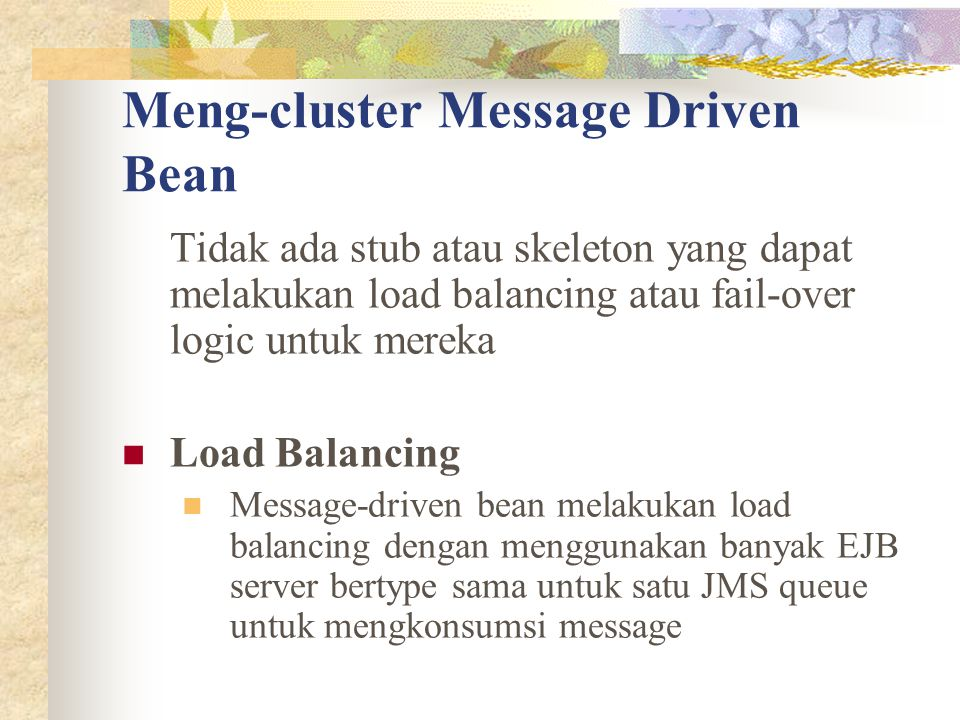 Meng-cluster Message Driven Bean