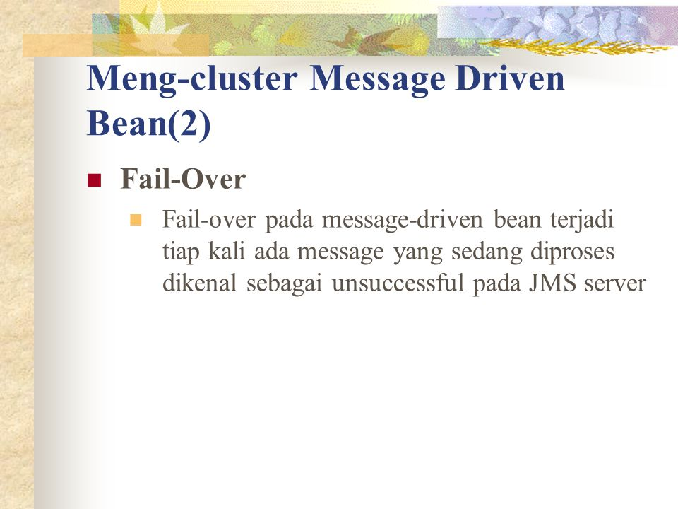 Meng-cluster Message Driven Bean(2)