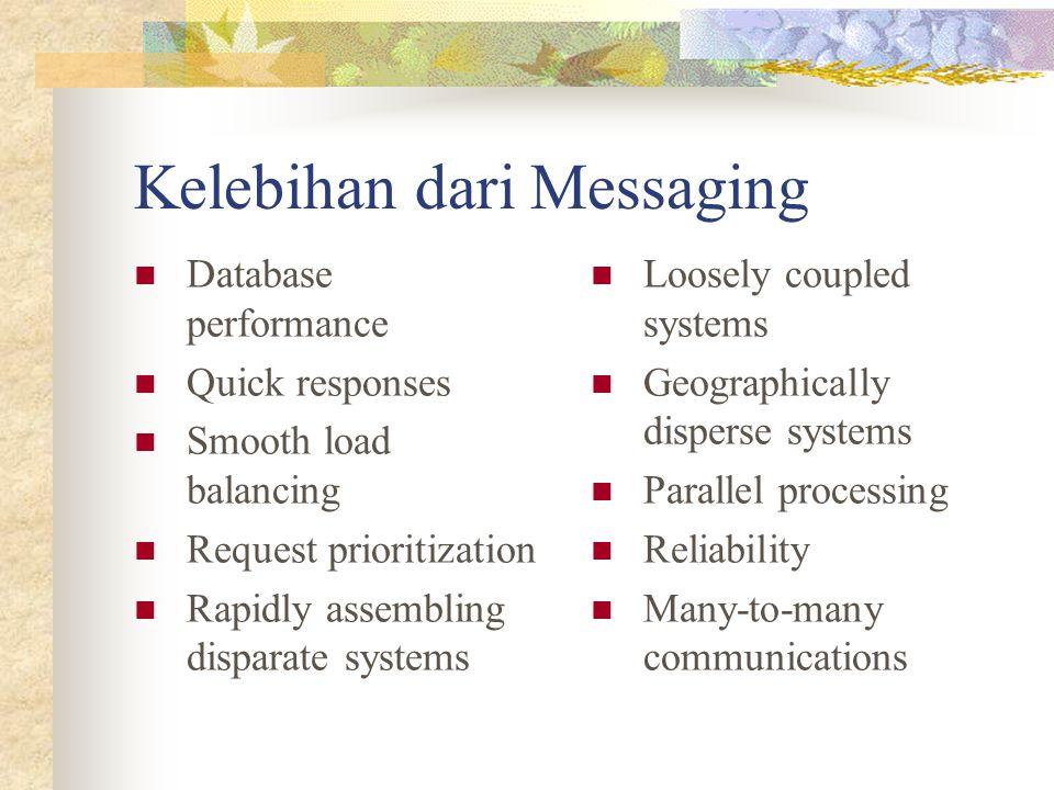 Kelebihan dari Messaging
