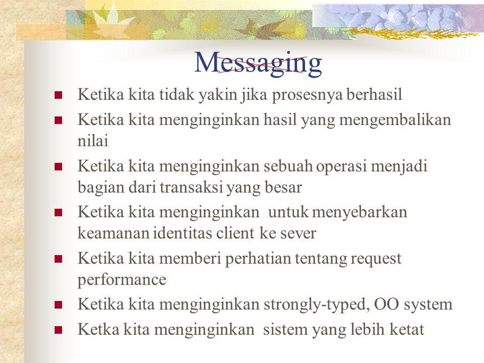 Messaging Ketika kita tidak yakin jika prosesnya berhasil