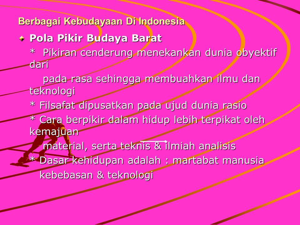 Berbagai Kebudayaan Di Indonesia