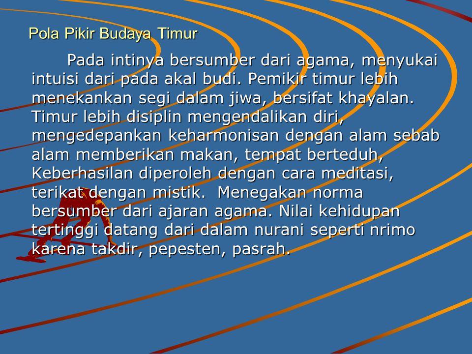 Pola Pikir Budaya Timur