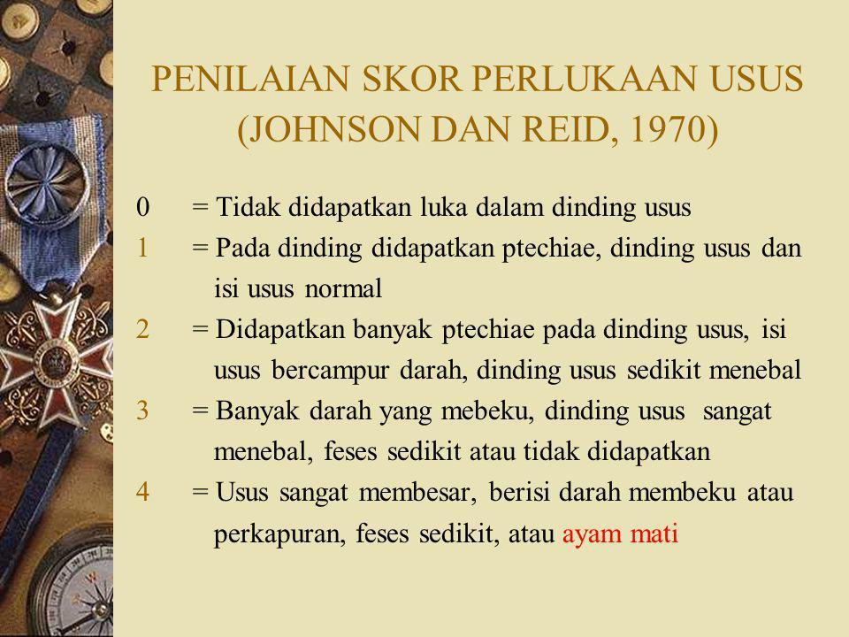 PENILAIAN SKOR PERLUKAAN USUS (JOHNSON DAN REID, 1970)