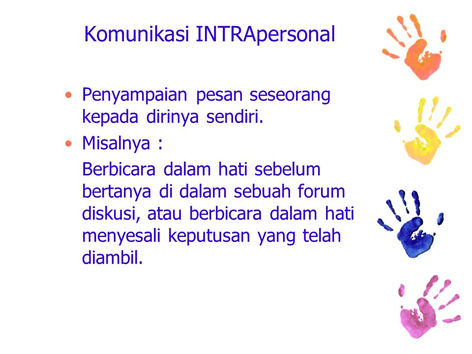 Komunikasi INTRApersonal
