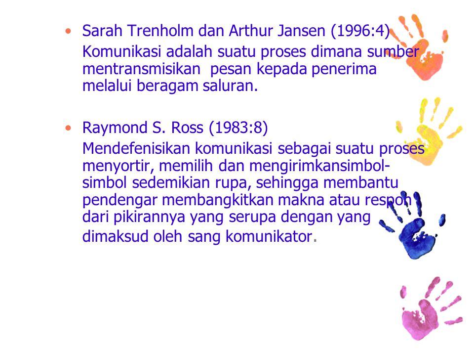 Sarah Trenholm dan Arthur Jansen (1996:4)
