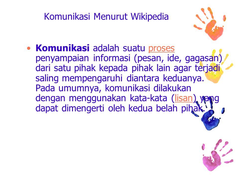 Komunikasi Menurut Wikipedia