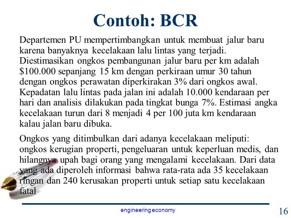 Contoh: BCR