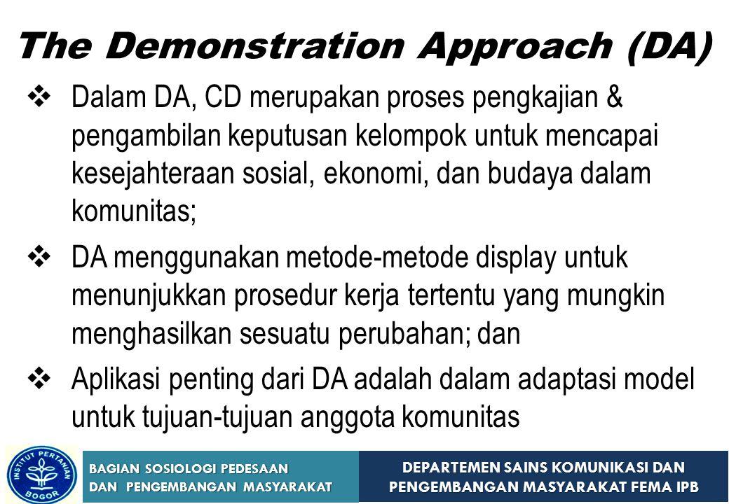 The Demonstration Approach (DA)