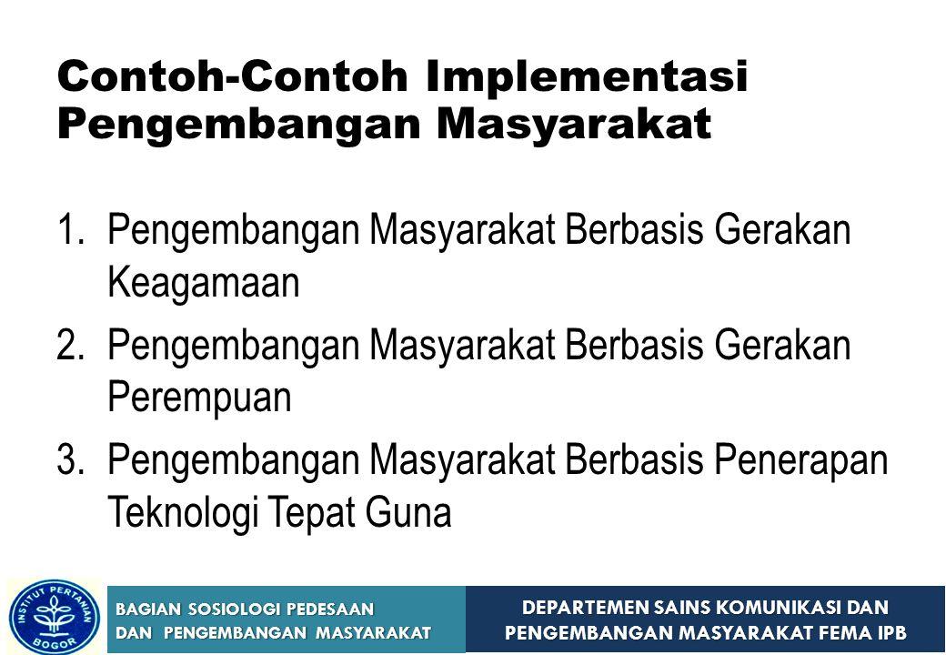 Contoh-Contoh Implementasi Pengembangan Masyarakat