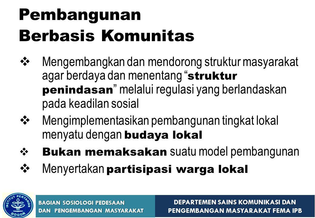 Pembangunan Berbasis Komunitas