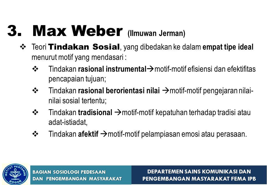 3. Max Weber (Ilmuwan Jerman)
