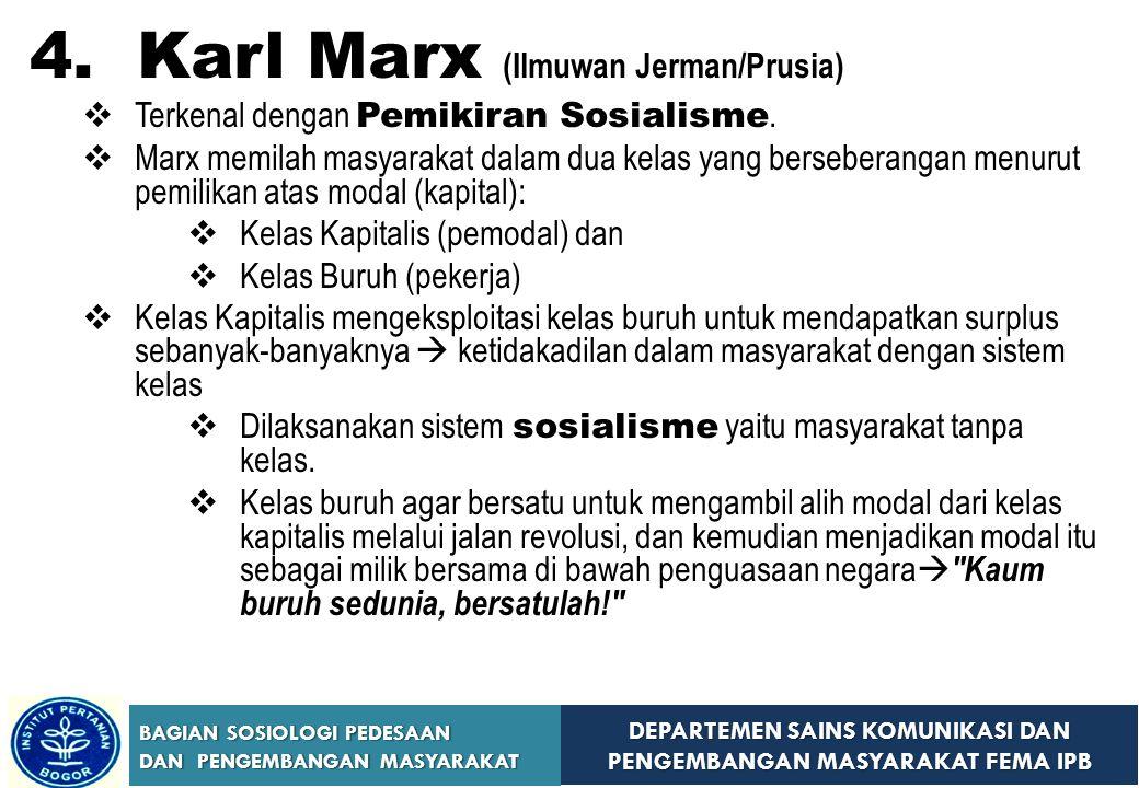 4. Karl Marx (Ilmuwan Jerman/Prusia)