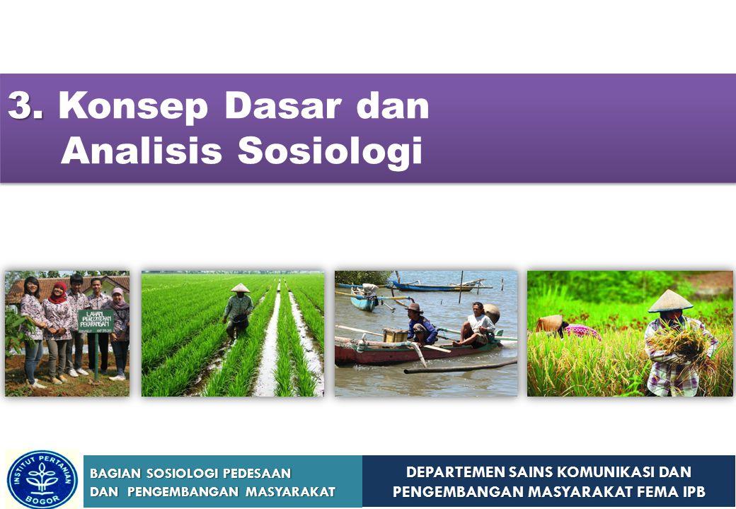 3. Konsep Dasar dan Analisis Sosiologi