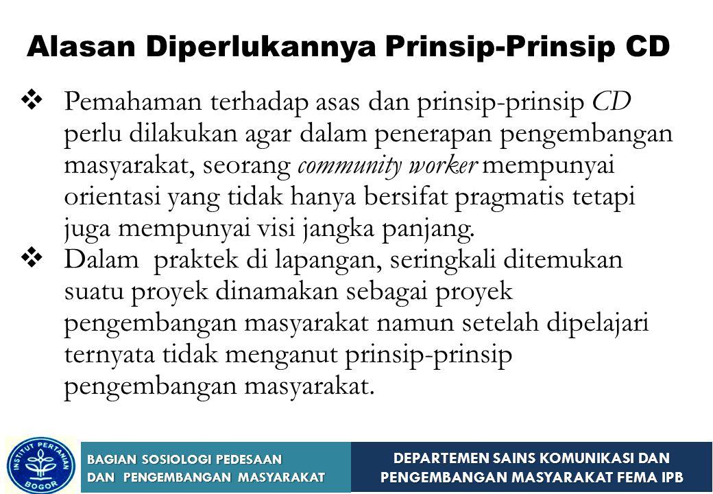 Alasan Diperlukannya Prinsip-Prinsip CD