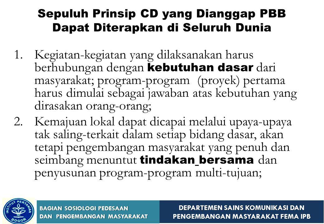 Sepuluh Prinsip CD yang Dianggap PBB Dapat Diterapkan di Seluruh Dunia