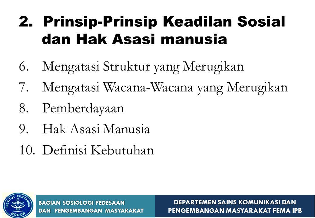 2. Prinsip-Prinsip Keadilan Sosial dan Hak Asasi manusia