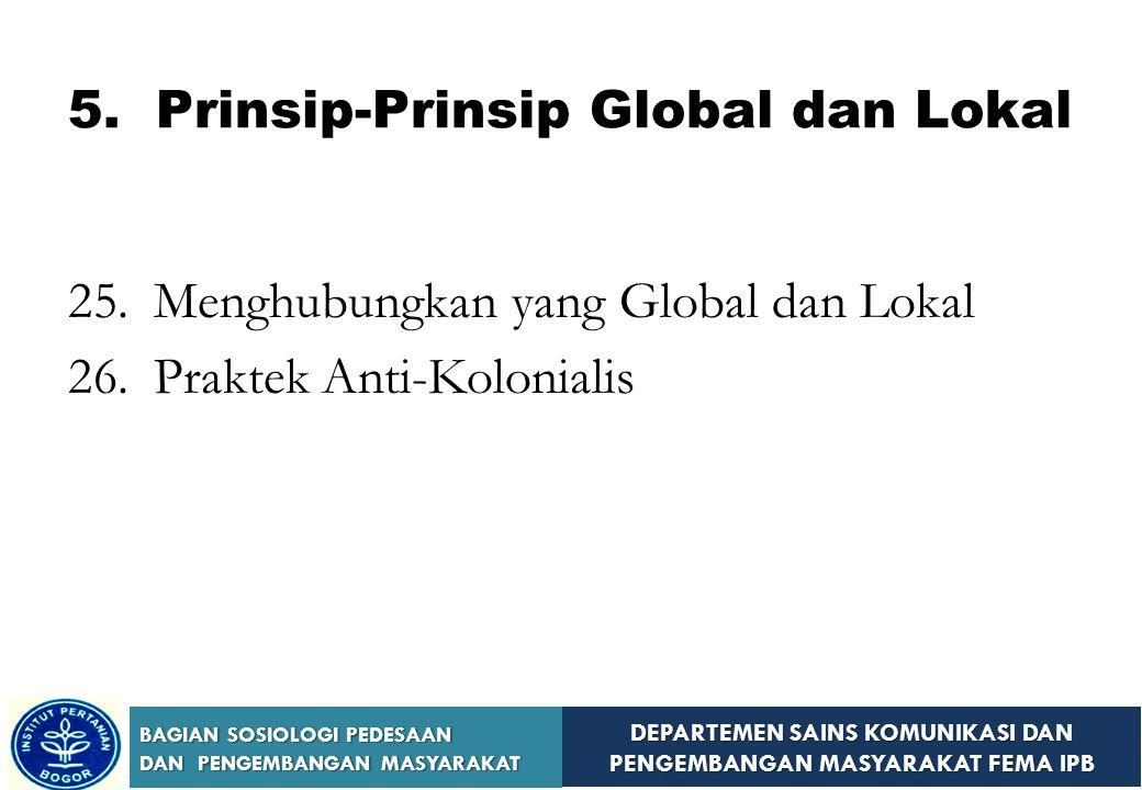 5. Prinsip-Prinsip Global dan Lokal